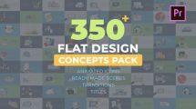 پروژه پریمیر مجموعه کانسپت فلت Flat Design Concepts
