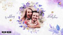 پروژه افترافکت اسلایدشو عروسی Floral Wedding Slideshow