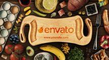 پروژه افترافکت تیزر نمایش لوگو غذا Food Logo