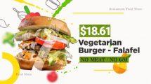 پروژه افترافکت تیزر تبلیغاتی غذا Food Menu Promo