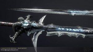 مدل سه بعدی شمشیر حماسی Frostmourne