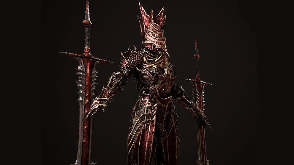 مدل سه بعدی کاراکتر شوالیه جهنمی Hell Knight