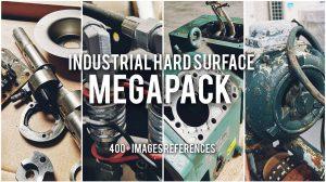 مجموعه تصاویر مرجع صنعتی Industrial Hard Surface Megapack