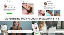 پروژه افترافکت مجموعه تیزر تبلیغاتی اینستاگرام Instagram 5 in 1