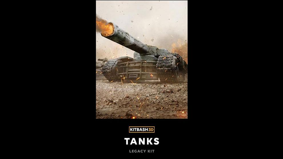 مجموعه مدل سه بعدی تانک Kitbash3D Veh Tanks