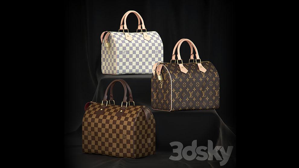 مدل سه بعدی کیف دستی Louis Vuitton Speedy 25