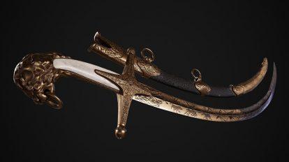 مدل سه بعدی شمشیر Mameluke Shamshir