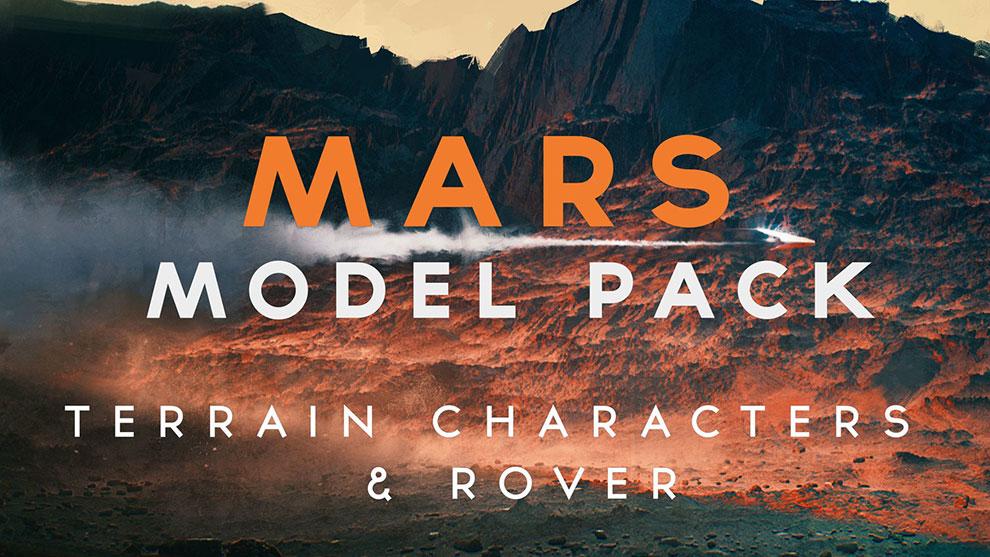 مجموعه مدل سه بعدی ساخت منظره مریخی Mars Model Pack