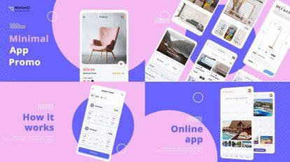 پروژه افترافکت تیزر تبلیغاتی اپلیکیشن مینیمال Minimal Color App Promo