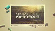 پروژه افترافکت نمایش عکس Minimalistic Photo Frames