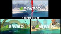پروژه افترافکت مجموعه نمایش لوگو چهار فصل Nature Intro Pack