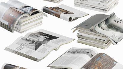 مدل سه بعدی روزنامه و مجله Opened magazines Stack Set