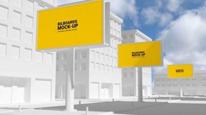 پروژه افترافکت مجموعه موکاپ تبلیغاتی Outdoor Advertising Mockup