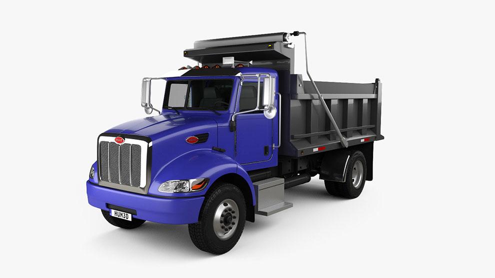 مدل سه بعدی کامیون Peterbilt 340 Dump Truck 2009