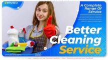 پروژه افترافکت تیزر تبلیغاتی خدمات نظافت Cleaning Service Promo