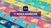 پروژه افترافکت مجموعه موشن مزرعه Ranch Animation