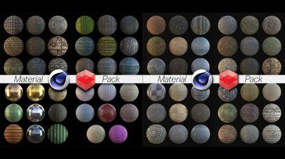 مجموعه متریال ردشیفت برای سینمافوردی Redshift Rustic Material Pack