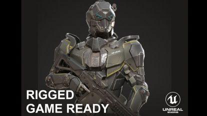 مدل سه بعدی ربات سرباز Sci-Fi Soldier