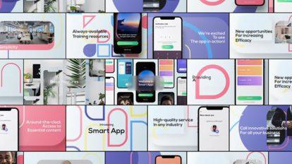 پروژه افترافکت تیزر تبلیغاتی اپلیکیشن Smart App Promo