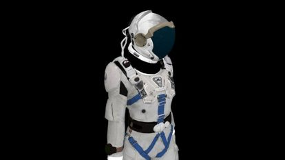 مدل سه بعدی لباس فضانورد Space Suit