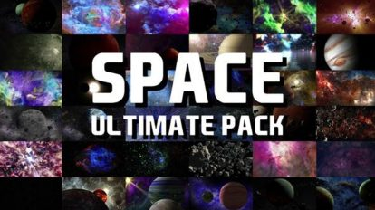 مجموعه فوتیج زمینه متحرک فضایی Space Ultimate Pack