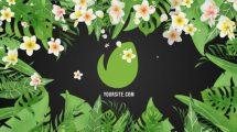 پروژه افترافکت نمایش لوگو با تم استوایی Tropical Vibes Logo Reveal