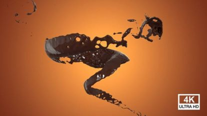 فوتیج زمینه متحرک پاشیدن شکلات Twister Chocolate Splash