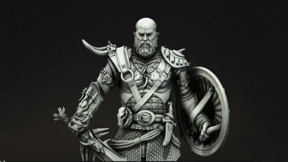 مدل سه بعدی کاراکتر وایکینگ Viking