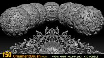 مجموعه براش تزیینی برای زیبراش Ornament Brushes and Alphas