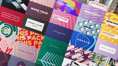 پروژه افترافکت نمایش عناوین رنگارنگ Colorful Minimal Titles