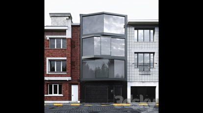مدل سه بعدی خانه آپارتمانی Abeel Facade