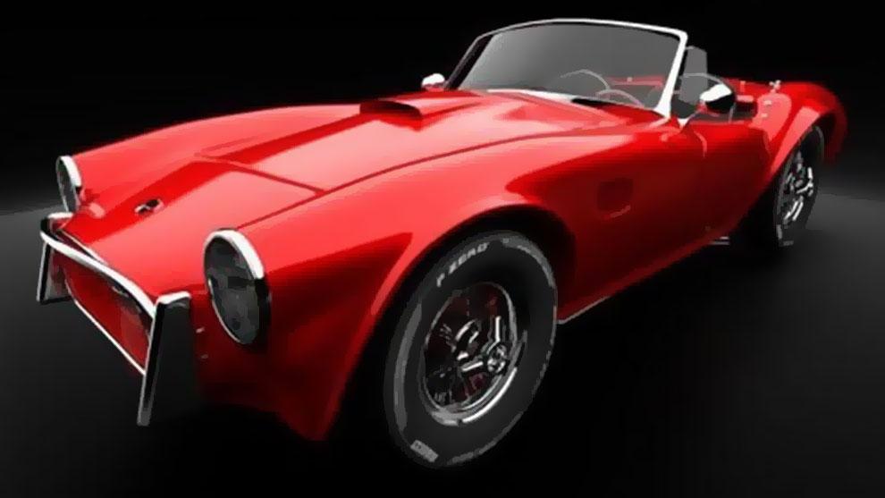 مدل سه بعدی خودرو قدیمی AC Cobra 269