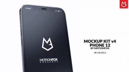 پروژه موکاپ تبلیغاتی اپلیکیشن App Promo Mockup Phone 12
