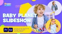 پروژه پریمیر اسلایدشو کودکان Baby Planet Promo Slideshow