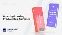 پروژه افترافکت موکاپ محصولات Box Mockup Product Marketing