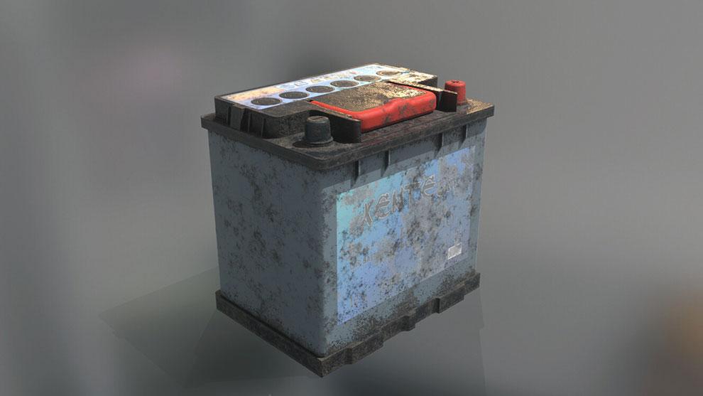مدل سه بعدی باتری ماشین Car Battery