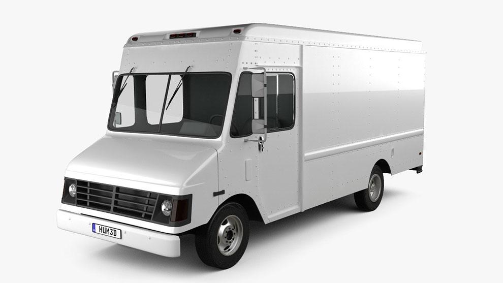 مدل سه بعدی خودرو ون شورلت Chevrolet P30 Van