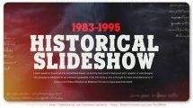 پروژه افترافکت اسلایدشو تاریخی سینمایی Cinematic Historical Slideshow