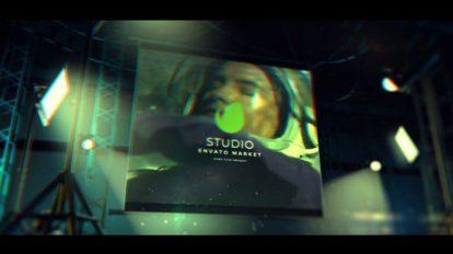 پروژه افترافکت نمایش لوگو سینمایی Cinematic Studio Logo