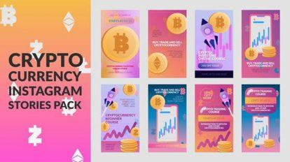 پروژه پریمیر مجموعه استوری ارز دیجیتال Cryptocurrency Stories Pack