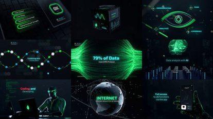 پروژه افترافکت تریلر تکنولوژی سایبری Cyber Technology Trailer