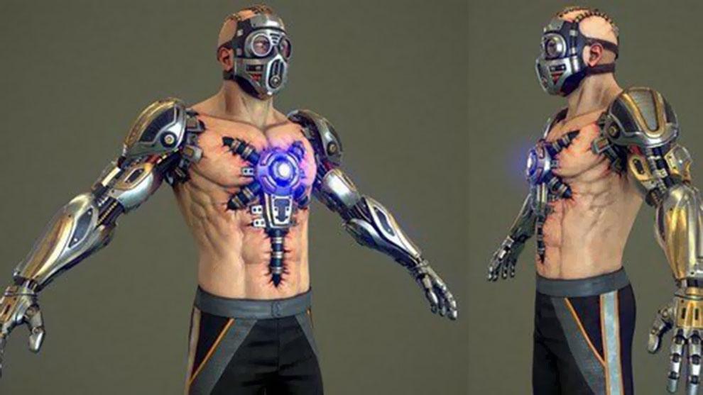 مدل سه بعدی سایبورگ جنگجو Cyborg Fighter