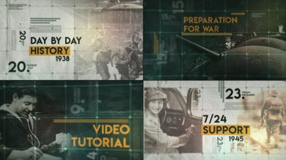 پروژه افترافکت تایم لاین تاریخ Day by Day History