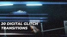 پروژه افترافکت مجموعه ترانزیشن گلیچ Digital Glitch Transitions