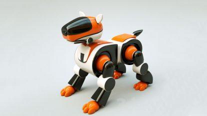 مدل سه بعدی ربات سگ Dog Robot