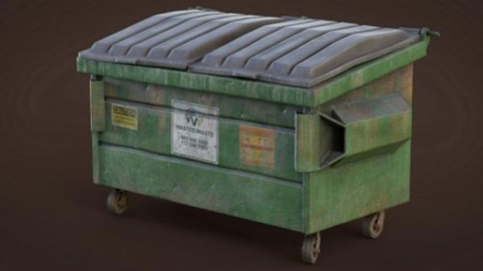 مدل سه بعدی سطل زباله Dumpster