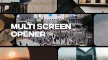 پروژه افترافکت افتتاحیه مولتی اسکرین Dynamic Multi-Screen Opener