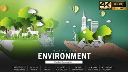 پروژه افترافکت افتتاحیه روز محیط زیست Environment Day