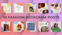 پروژه افترافکت مجموعه پست اینستاگرام فشن Fashion Instagram Posts