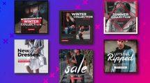 پروژه افترافکت مجموعه پست شبکه اجتماعی Fashion Promo Social Post